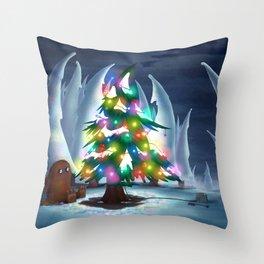 Waiting for Christmas Throw Pillow