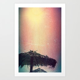 Burnt Beach Art Print