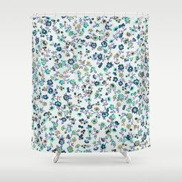 Greenapple Floral Print Shower Curtain