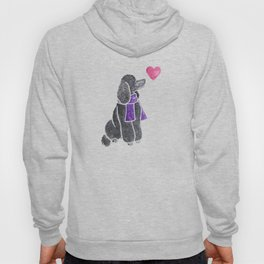 Watercolour Standard Poodle Hoody