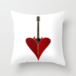Love Guitar Throw Pillow