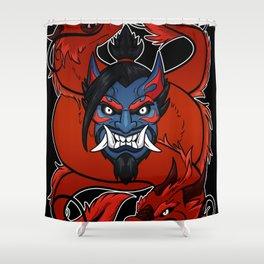 Demonic Archer Shower Curtain
