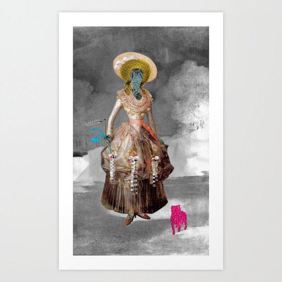 Goya -  Marquesa de Pontejos - Collage Art Print