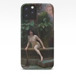 Truth Coming Out of Her Well Painting by Jean-Léon Gérôme iPhone Case