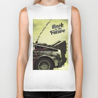 back to the future Biker Tanks featuring Back to the future by Duke.Doks