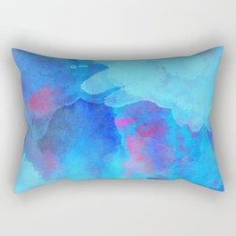 Watercolor abstract art Rectangular Pillow