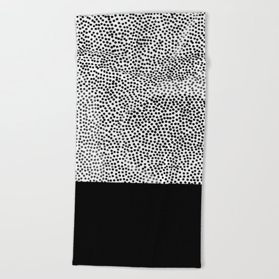 Dots and Black Beach Towel
