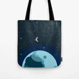 Moon and Planet Tote Bag