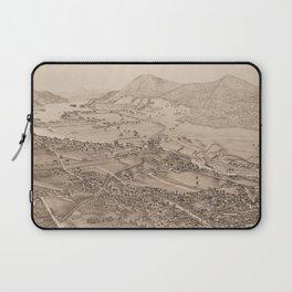 Ticonderoga Map 1884 (Sepia) Laptop Sleeve
