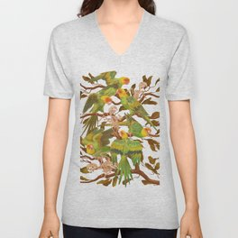 The extinction of the Carolina Parakeet. Unisex V-Neck