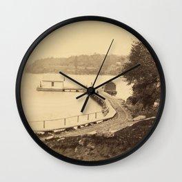 Vintage Adirondacks: Ticonderoga Boat Landing Wall Clock