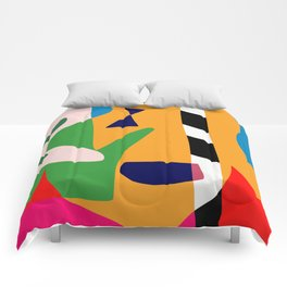 Bold and vibrant abstract shapes Comforters