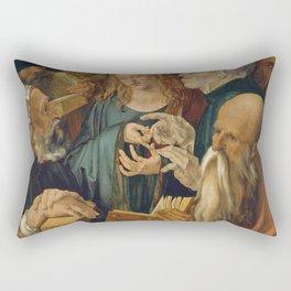 Albrecht Dürer - Christ among the Doctors Rectangular Pillow