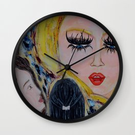 The Arian: Acrylic Painting of girls Wall Clock