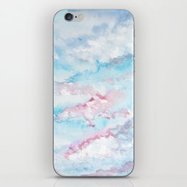 Pink and Blue Clouds . Sky iPhone Skin