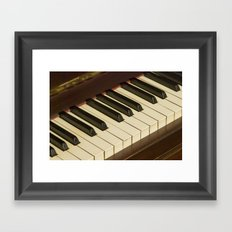Old Piano Keyboard tilt view Framed Art Print