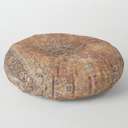 Antique Persian Mustard Rug Floor Pillow