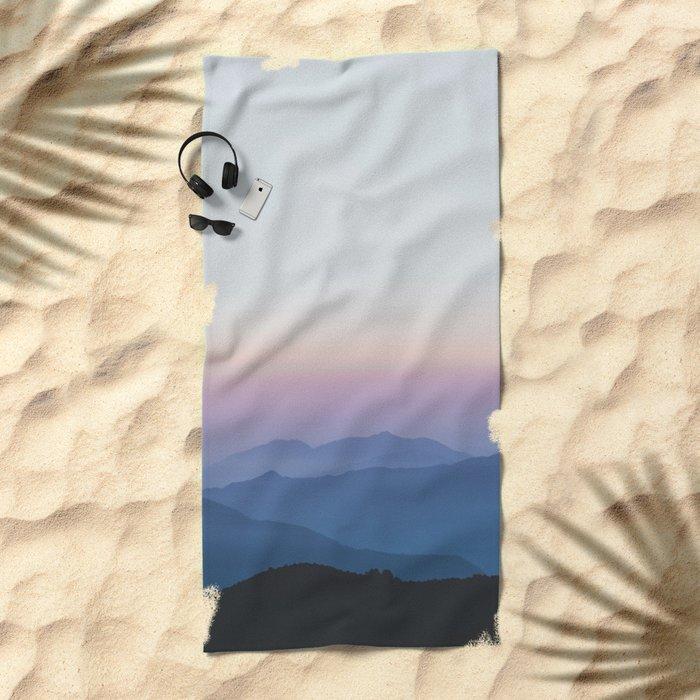 Sunset in the Annapurnas Beach Towel