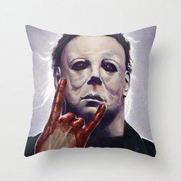 Michael Myers Rocks Throw Pillow