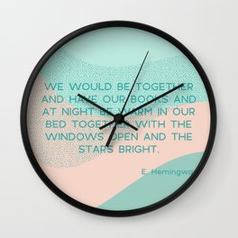 we would be together Wall Clock
