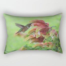 Hummingbird in Justicia Rectangular Pillow