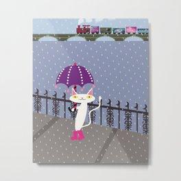 Shironeko Metal Print