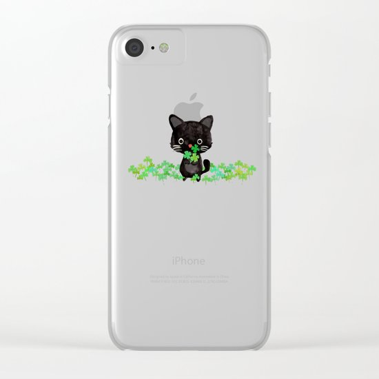 The Luckiest Cat Clear iPhone Case