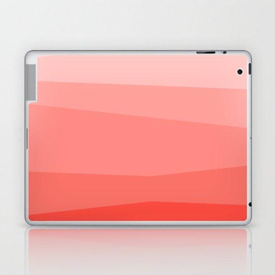 Diagonal Living Coral Gradient Laptop & iPad Skin