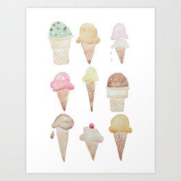 Ice Cream Paint Job Art Print