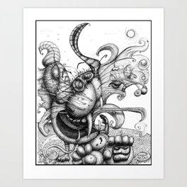 Cat Scratch Fever Art Print