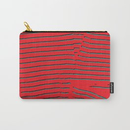red turquoise stripes Carry-All Pouch