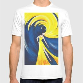 Abstract Wave Girl T-shirt