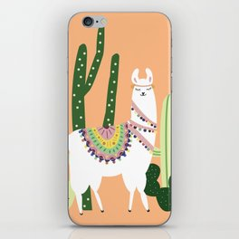 Cute Llama with Cactus iPhone Skin