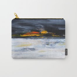 black, orange, white abstract, flipped Carry-All Pouch