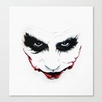 joker Canvas Prints featuring Joker by DirtyArt