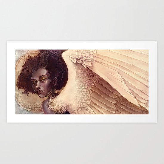 golden angel Art Print