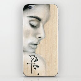 Beach Tribe Eight - Gypsy Soul Searching Woman iPhone Skin