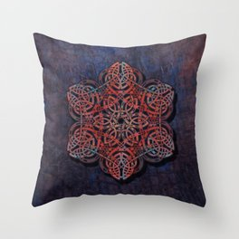 Distressed Metal Celtic Design Throw Pillow