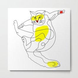 Acrobatic Cat Metal Print