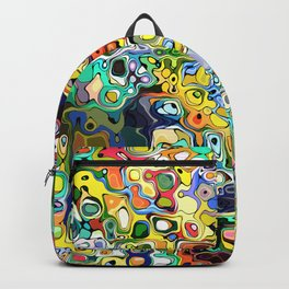 Chaotic Colors Abstract Backpack