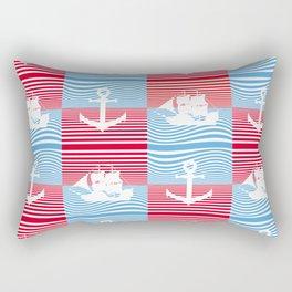 Sailboat and anchor pattern Rectangular Pillow