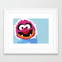 muppets Framed Art Prints featuring Animal Muppets Babies by Roe Mesquita