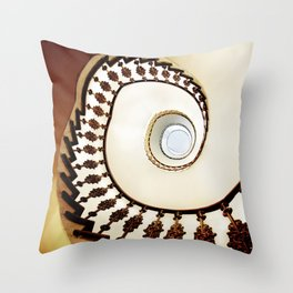Spiral staircase in warm colours Throw Pillow