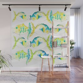 Kissing Fish by Scarett Damen Wall Mural
