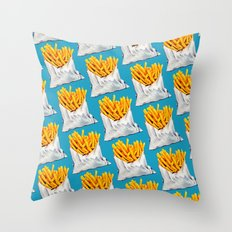 French Fries Pattern Throw Pillow