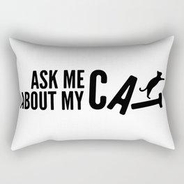 Ask Me About My Cat 02 Rectangular Pillow