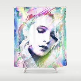Dreaming in Colour Shower Curtain