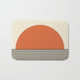Sunrise / Sunset - Orange & Black Bath Mat