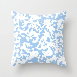 Spots - White and Baby Blue Throw Pillow