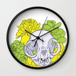 Persian Kitty Skull Wall Clock